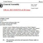UN rights council condemns internet blocking