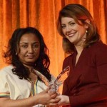Reeyot Alemu receives her 2012 courage in journalism award