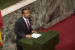 Abiy Ahmed, newly elected Prime Minister of Ethiopia, addresses the house of Parliament in Addis Ababa, after the swearing in ceremony on April 2, 2018. (ZACHARIAS ABUBEKER/AFP/GETTY IMAGES)
