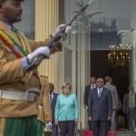 Merkel visiting Ethiopia as state of emergency unfolds